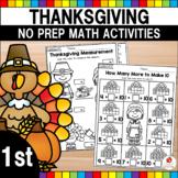 Thanksgiving Math Worksheets (1st Grade)