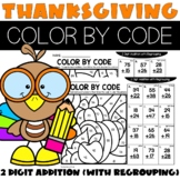 Thanksgiving 2 Digit Addition With Regrouping Activities