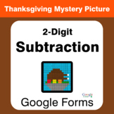 Thanksgiving: 2-Digit Subtraction - Mystery Picture - Goog