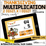 Thanksgiving 2-Digit by 1-Digit Multiplication BOOM Cards™
