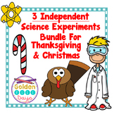Thanksgiving Christmas Independent Science Experiments Bundle!