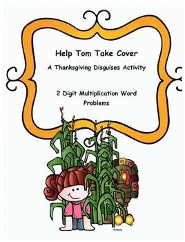 Thanksgiving Math Word Problems Activity: 2-digit Multiplication