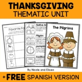 Thanksgiving Activities Thematic Unit