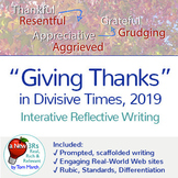 Thanksgiving 2019 - Interactive Reflective Writing