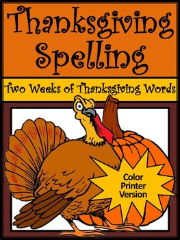 Thanksgiving Language Arts Activities: Thanksgiving Spelli