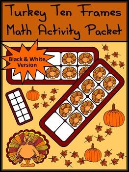 Fall Activities: Turkey Ten Frames Fall Math Activity