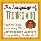 Thanksgiving History Reading Passages Informational Texts, Activities
