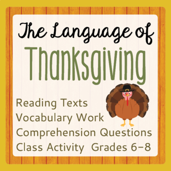 Thanksgiving History Reading Passages Informational Texts,