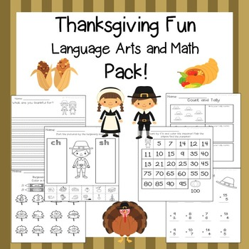 Thanksgiving Activities / Thanksgiving ELA / Thanksgiving Math