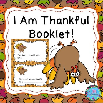Thanksgiving Writing! (I Am Thankful Booklet) ESL Newcomers