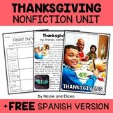 Nonfiction Unit - Thanksgiving Activities