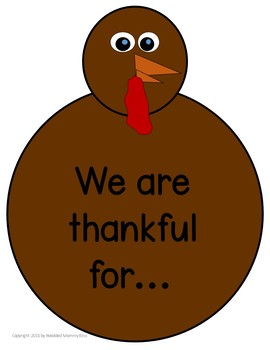 Thanksgiving turkey - being grateful in November add a feather each day