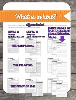 Thanksgiving Close Reading (Differentiated)