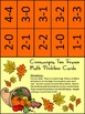 Thanksgiving Activities: Cornucopia Thanksgiving Ten Frames Math Activity