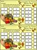 Thanksgiving Activities: Cornucopia Thanksgiving Ten Frames Math Activity -Color