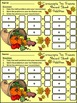 Thanksgiving Activities: Cornucopia Thanksgiving Ten Frame