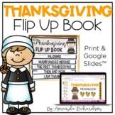 Thanksgiving Activities Flip Up Book