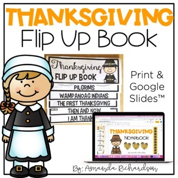 Thanksgiving Flip Up Book
