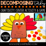 Thanksgiving Turkey Craft for Decomposing Numbers | Printable & Digital