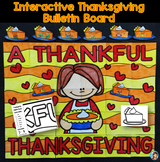 Thanksgiving Writing Collaborative Bulletin Board Activity