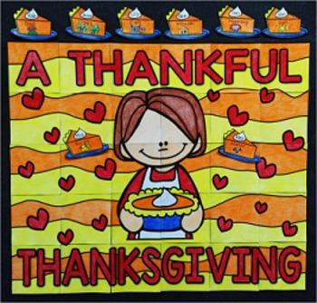 Thanksgiving Writing Collaborative Bulletin Board Activity