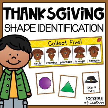 Thanksgiving 2D and 3D Shape Game