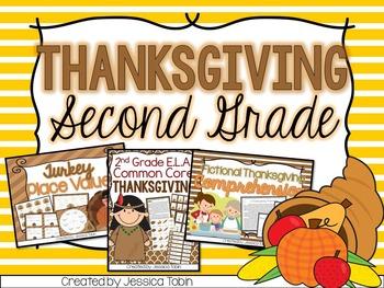 Thanksgiving Activities- Second Grade Bundle