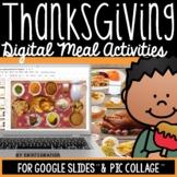 Digital Activities for Thanksgiving on Google Slides: Crea
