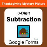 Thanksgiving: 3-Digit Subtraction - Mystery Picture - Goog