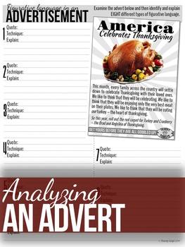 Thanksgiving: 3 Figurative Language Activities