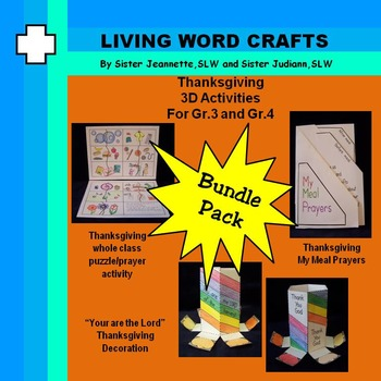 Thanksgiving 3D Activities for Grades 3&4
