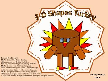 Thanksgiving 3D Shapes Turkey