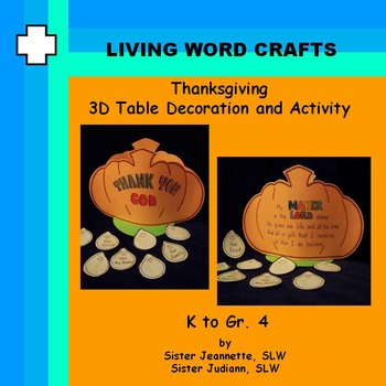 Thanksgiving 3D Table Decoration and Family Activity K to Gr.4