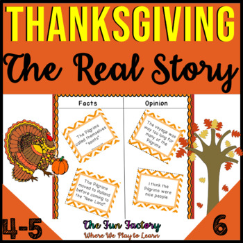 Thanksgiving 3rd-5th Grades, The Real Story