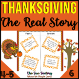 Thanksgiving Activities 3rd-5th Grades, The Real Story