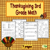 Thanksgiving 3rd Grade Math Printables