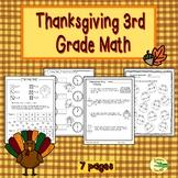 Thanksgiving 3rd Grade Math Printables