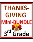 Thanksgiving 3rd Grade Mini-Bundle