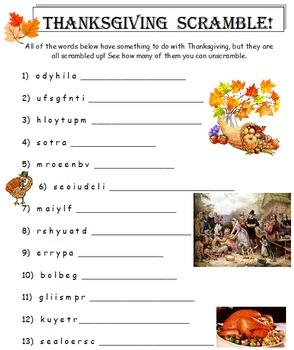 Thanksgiving 3rd Grade Mini-Bundle