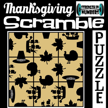 Thanksgiving 3x3 SCRAMBLE Puzzle for Early Finishers