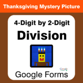 Thanksgiving: 4-Digit by 2-Digit Division - Math Mystery Picture - Google Forms