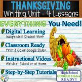 Thanksgiving Writing BUNDLE! - Argumentative, Persuasive, Expository, Narrative
