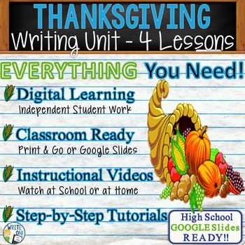Thanksgiving Writing BUNDLE! - Argumentative, Persuasive,