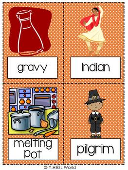 Flashcards Thanksgiving