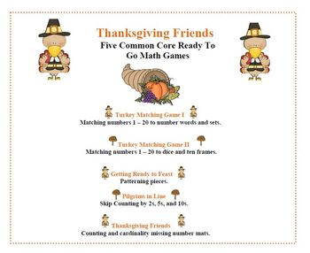 Thanksgiving 5 Common Core Ready To Go Games