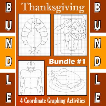 Thanksgiving - Bundle #1 - 4 Coordinate Graphing Activities