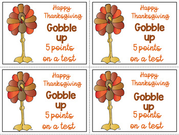 Thanksgiving 5 points Freebie Color and Black & White for easy printing
