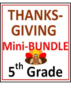 Thanksgiving 5th Grade Mini-Bundle