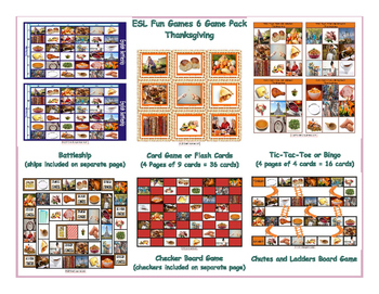 Thanksgiving Board Games 6 Game Bundle