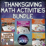 Thanksgiving 7th and 8th Grade Math Activity Bundle